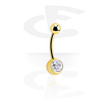 Gullbelagt, juvelprydet bøyd barbell
