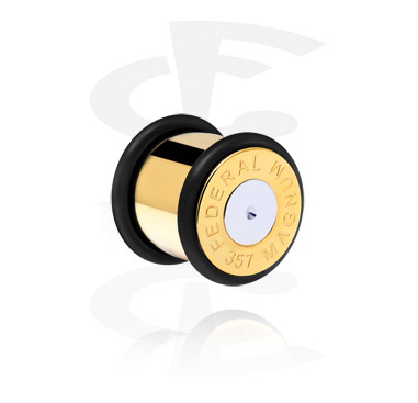 Tunely & plugy, Bullet Plug, Gold Plated