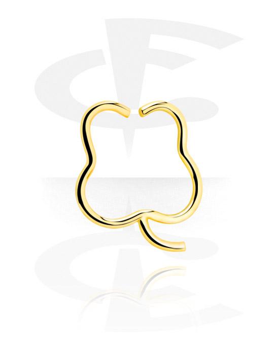 Kółka do piercingu, Continuous Ring, Pozłacana stal chirurgiczna 316L