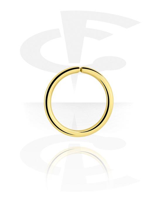 Renkaat, Continuous ring, Kultapinnoitteinen kirurginteräs 316L