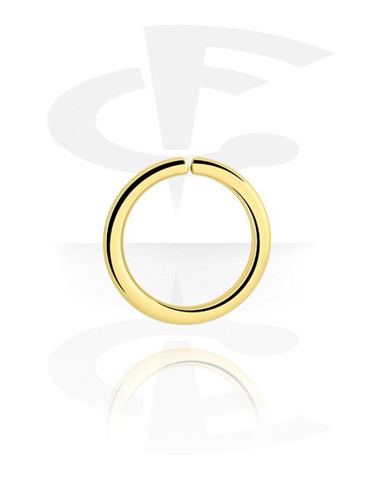 Piercingové kroužky, Continuous ring, Pozlacená chirurgická ocel 316L
