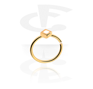Piercing Rings, Continuous Ring, Gold Plated Surgical Steel 316L