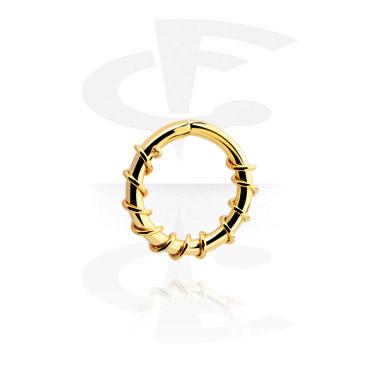 Kółka do piercingu, Continuous Ring, Gold Plated