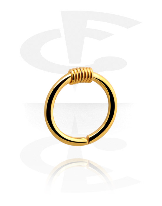 Piercing Ringe, Continuous Ring, Vergoldeter Chirurgenstahl 316L