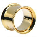 Tuneli & čepovi, Double Flared Tunnel, Gold Plated Surgical Steel 316L