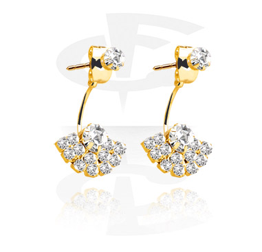 Earrings, Studs & Shields, Ear Studs, Gold Plated Surgical Steel 316L, Gold Plated Brass