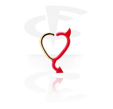 Continuous Anello nero a forma di cuore
