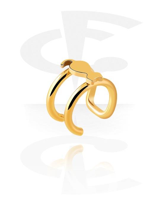 Lažni piercing nakit, Ear cuff, Pozlaćeni kirurški čelik 316L