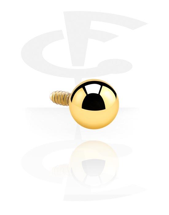 Kugeln, Stäbe & mehr, Kugel für Stäbe mit Innengewinde, Vergoldeter Chirurgenstahl 316L