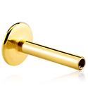 Bolas y Accesorios, Barra para labret con rosca interior, Chapada en oro