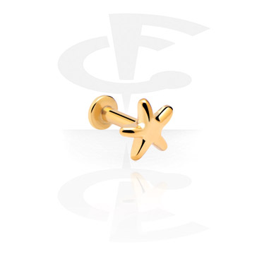 Labrets, Internally Threaded Labret, Gold Plated