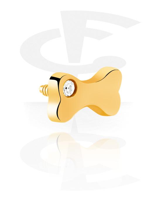 Kuličky, kolíčky a další, Attachment for 1.2mm Internally Threaded Pins, Pozlacená chirurgická ocel 316L