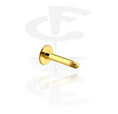 Pallot ja koristeet, Labret Pin, Gold Plated Surgical Steel 316L