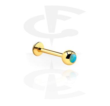 Labrets, Labret, Acero quirúrgico 316L chapado en oro
