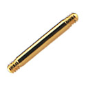 Pallot ja koristeet, Barbell Pin, Gold Plated Surgical Steel 316L