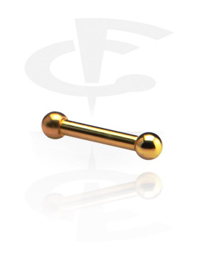 Sztangi, Pozłacana sztanga 1,2 mm, Gold Plated Surgical Steel 316L