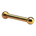 Barbells, Barbell, Gold Plated Surgical Steel 316L