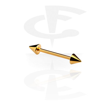 Barbellit, Barbell with Cones, Gold Plated