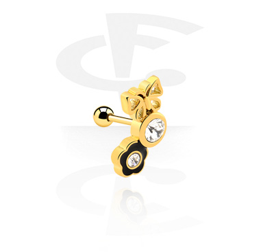 Helix / Tragus, Tragus Piercing, Gold-Plated