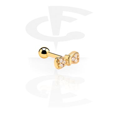 Helix / Tragus, Tragus Piercing, Gold Plated