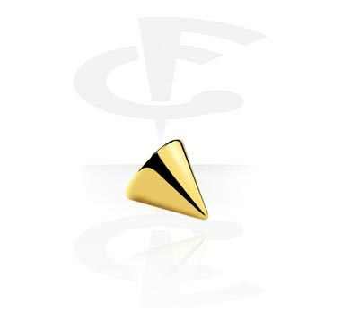 Bolas y Accesorios, Cono chapado en oro de 1,2 mm, Gold Plated