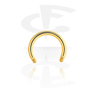 Boules et Accessoires, Barre circulaire plaquée or sans accessoires, Plaqué or