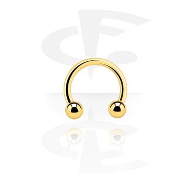 Hevosenkengät, Circular barbell, Gold Plated Surgical Steel 316L