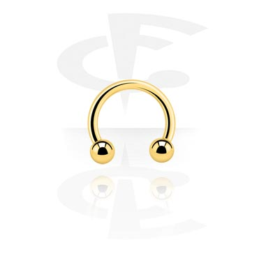 Circular Barbells, Circular barbell, Gold Plated Surgical Steel 316L
