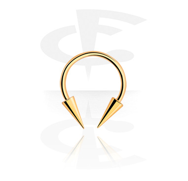 Okrugle šipkice, Micro Circular Barbell with Long Cones, Gold Plated