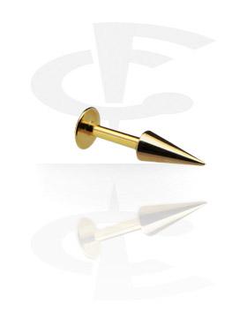 Vergoldetes Micro Labret mit Long Cone