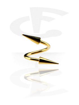 Vergoldete Micro Spirale mit Long Cones