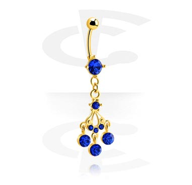 Curved Barbells, Fashion Banana, Gold Plated