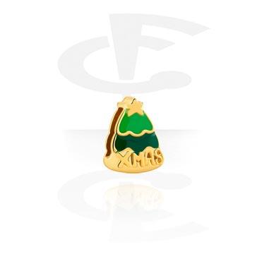 Cuentas Planas, Flat-Bead for Flat-Bead Bracelets, Acero quirúrgico 316L chapado en oro