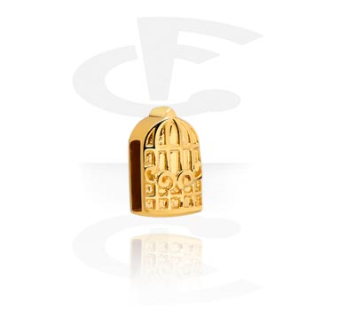 Ploché korálky, Flat-Bead for Flat-Bead Bracelets, Gold Plated
