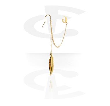 Kolczyki, Ear cuff, Gold Plated Surgical Steel 316L