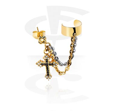 Kolczyki, Ear cuff, Gold Plated Surgical Steel 316L