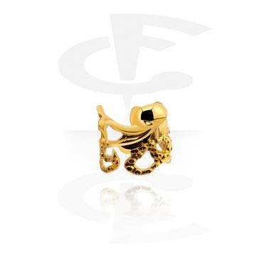 Imitacja biżuterii do piercingu, Ear Cuff, Gold Plated