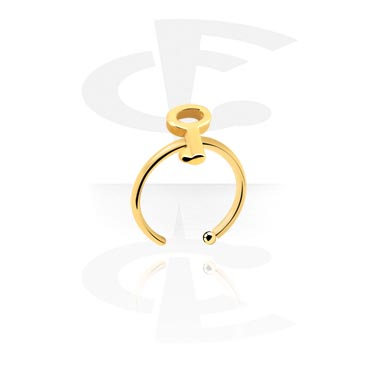 Nose Jewellery & Septums, Nose Ring, Gold-Plated Surgical Steel