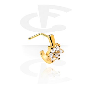 Curved Jewelled Nose Stud