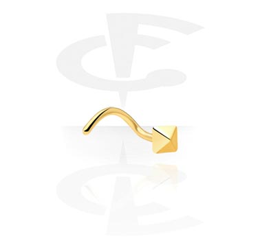 Nose Jewellery & Septums, Nose Stud, Gold Plated Surgical Steel