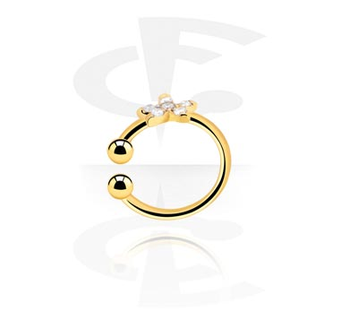 Fake Piercings, Fake Septum, Gold-Plated Surgical Steel
