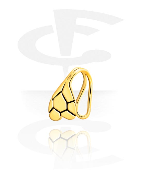 Piercing fake, Nose cuff, Acciaio chirurgico 316L con placcatura in oro