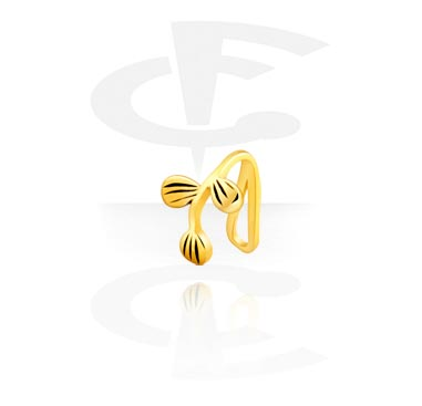 Fake Piercings, Nose Cuff, Gold Plated Surgical Steel 316L