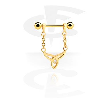 Nipple Piercings, Nipple Barbell, Rosegold Plated Surgical Steel 316L