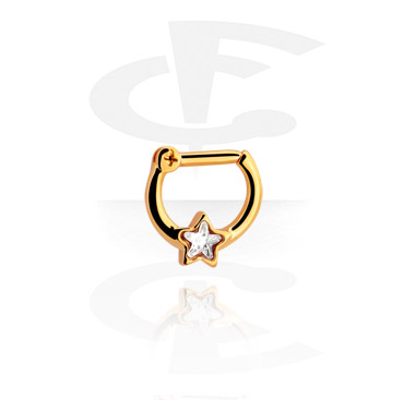 Nosovky a kroužky do nosu, Septum Clicker, Gold-Plated