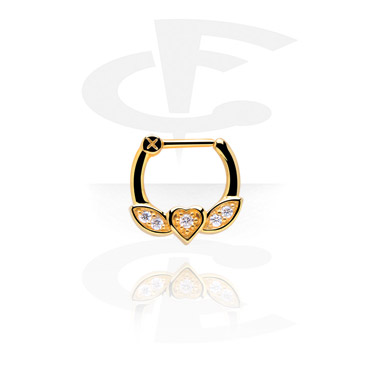 Nosovky a kroužky do nosu, Septum Clicker, Gold Plated
