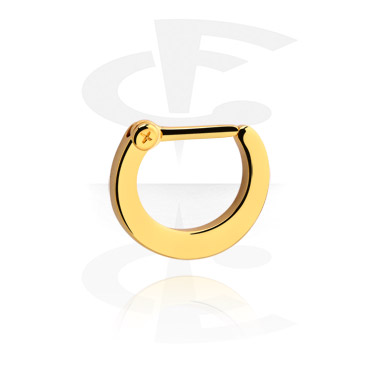 Nose Jewellery & Septums, Hinged Septum Clicker, Gold Plated