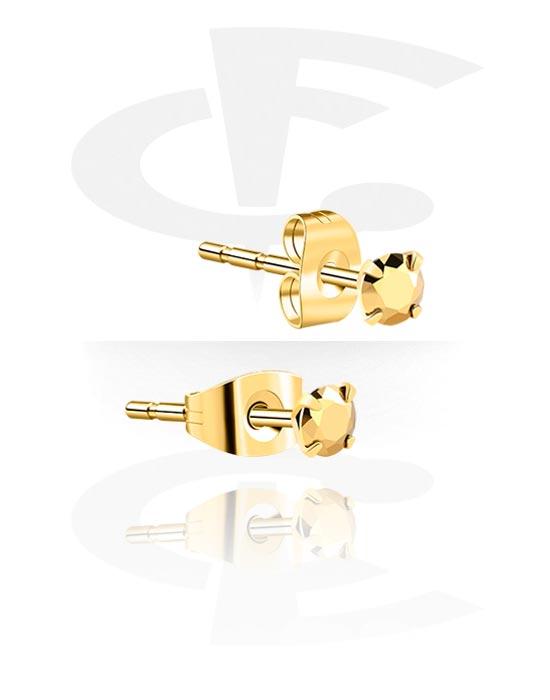 Korvakorut, Ear Studs, Kultapinnoitteinen kirurginteräs 316L