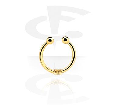 Falešné piercingové šperky, Fake Septum, Gold Plated