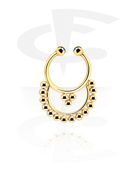 Fake Piercings, Fake Septum, Gold Plated Surgical Steel 316L